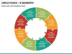 Circle puzzle PPT slide 23