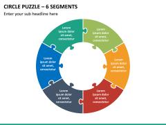 Circle puzzle PPT slide 25