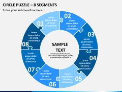 Circle puzzle PPT slide 1