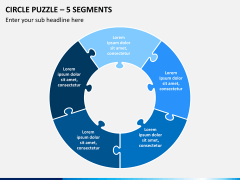 Circle puzzle PPT slide 10