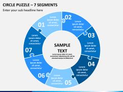 Circle puzzle PPT slide 2