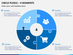 Circle puzzle PPT slide 4
