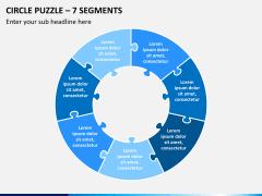 Circle puzzle PPT slide 8