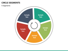 Circle segments PPT slide 55