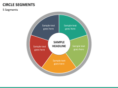 Circle segments PPT slide 56
