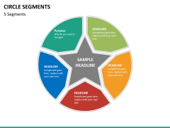 Circle segments PPT slide 57