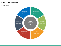 Circle segments PPT slide 59