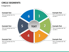 Circle segments PPT slide 61