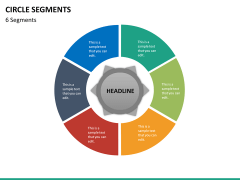 Circle segments PPT slide 62
