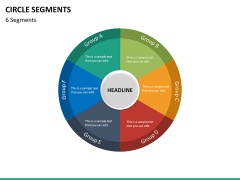 Circle segments PPT slide 63