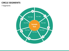 Circle segments PPT slide 67
