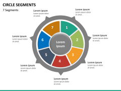 Circle segments PPT slide 71