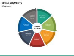 Circle segments PPT slide 72