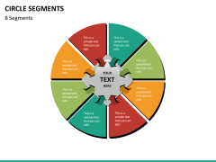 Circle segments PPT slide 74