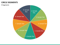 Circle segments PPT slide 79