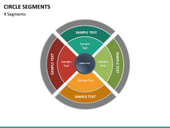 Circle segments PPT slide 50