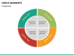 Circle segments PPT slide 51