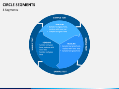 Circle segments PPT slide 1