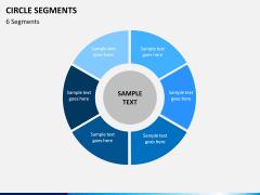 Circle segments PPT slide 16