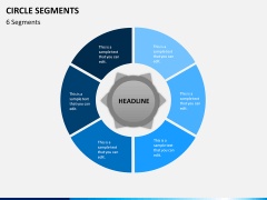 Circle segments PPT slide 19