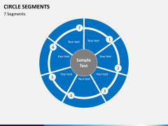 Circle segments PPT slide 24