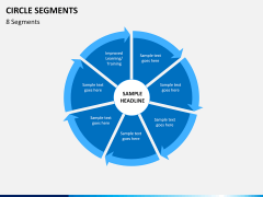 Circle segments PPT slide 29