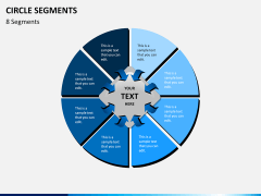 Circle segments PPT slide 31