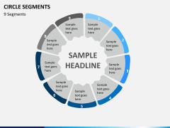 Circle segments PPT slide 35