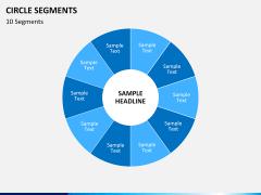Circle segments PPT slide 38