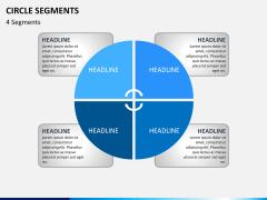Circle segments PPT slide 4