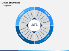 Circle segments PPT slide 40