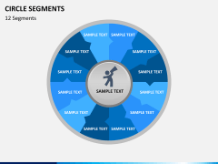 Circle segments PPT slide 41