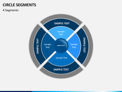 Circle segments PPT slide 7