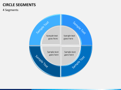 Circle segments PPT slide 8