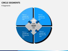Circle segments PPT slide 9