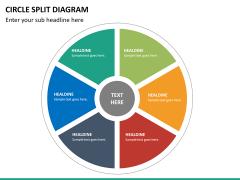 Circle Split Diagram PPT slide 24