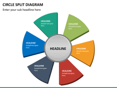 Circle Split Diagram PPT slide 25