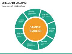 Circle Split Diagram PPT slide 26