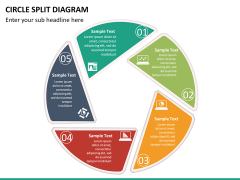 Circle Split Diagram PPT slide 16