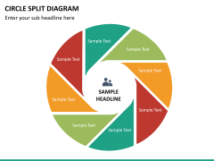 Circle Split Diagram PPT slide 18