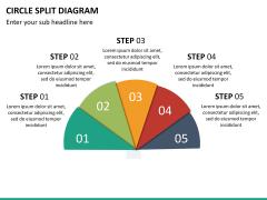 Circle Split Diagram PPT slide 19