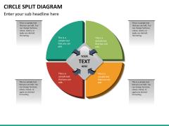 Circle Split Diagram PPT slide 17