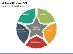Circle Split Diagram PPT slide 22