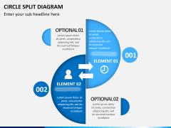 Circle Split Diagram PPT slide 1