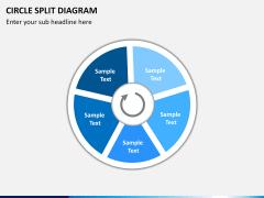 Circle Split Diagram PPT slide 10