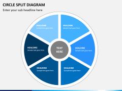 Circle Split Diagram PPT slide 11