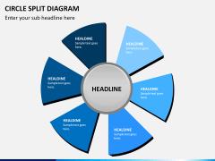 Circle Split Diagram PPT slide 12