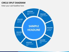 Circle Split Diagram PPT slide 13