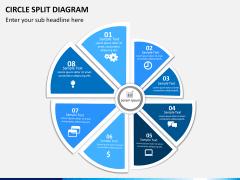 Circle Split Diagram PPT slide 2