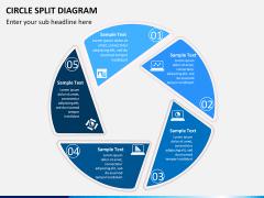 Circle Split Diagram PPT slide 3
